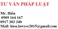 Đỗ Trọng Hiền 0909164167 - 0917303340 - hien.lawyer2015@gmail.com
